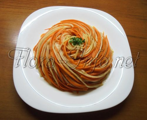 Ассорти овощное, Салат из дайкона и моркови по-корейски