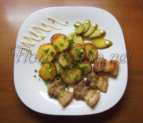 картофель в мундире - поджаренный