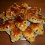 Пирожки с яблоками «Поросята», к году Свиньи