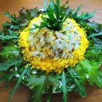 Салат с курицей (курица + апельсин + кукуруза)